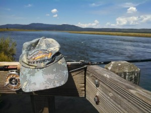 The sporty mossy creek fly fishing hat middle river for Mossy creek fly fishing